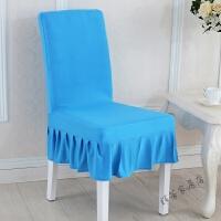 家用弹力椅套连体饭店餐椅套现代简约欧式凳子套酒店椅子套凳罩