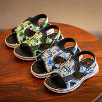 儿童果冻凉拖鞋夏季男童拖鞋防滑厚底洞洞鞋中大童露趾休闲沙滩鞋