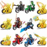黄金幻影忍者人仔人偶拼装摩托战车忍者神龟儿童积木玩具