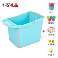 婴儿浴盆折叠大号游泳宝宝浴桶儿童洗澡桶泡澡桶小孩浴缸澡盆可坐