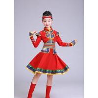 少儿蒙古女男孩儿童蒙古族服饰演出服舞蹈草原表演少数民族女服装