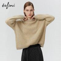 伊芙丽新款冬装韩版宽松羊毛针织衫女1AA230381