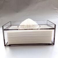 卫生湿巾纸盒 家用纸巾盒客厅 创意抽纸盒亚克力卫生间 欧式车用抽纸卷纸盒 灰色 大号灰色沉盖