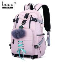 初中女生书包女高中学生双肩包大学大容量韩版古着感少女校园背包
