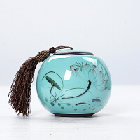 手绘茶叶罐陶瓷普洱茶密封罐功夫大小号储存罐茶叶桶