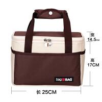 手提包加厚带饭饭盒包方形便当包早餐保温饭盒袋外出旅行便捷家居日用收纳用品