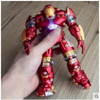 复仇者联盟2 电影版 反浩克装甲 钢铁侠 可动 可发光人偶玩具模型