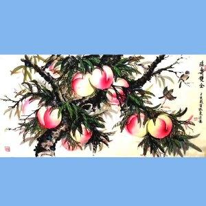 山东省美协会员,国家一级美术师,中国书画家协会会员徐振东(福寿双全)60