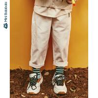 【年终狂欢 2件4折价: 80】迷你巴拉巴拉男女童灯芯绒萝卜裤宽松版型2019秋装文艺复古长裤
