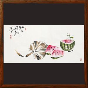 写意画《纳凉图)》于洪顺 实力派画师【R4460】