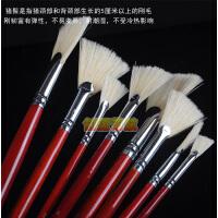 莫奈猪鬃扇形笔 油画刷 水粉画笔 扇形笔 伞形刷 8支套装 7858