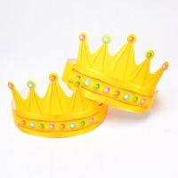 生日帽 金卡纸生日帽儿童生日帽子派对皇冠帽50/100个