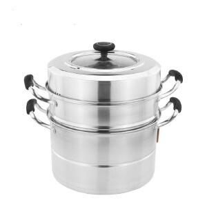华格莱 28cm美味轩复底三层多用蒸锅