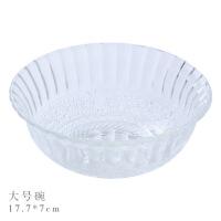 创意玻璃碗饭碗汤碗碟子家用透明米饭甜品小碗沙拉碗餐具碗碟套装