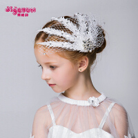2018新款韩版蕾丝儿童头饰公主发饰手工演出女孩发箍发夹