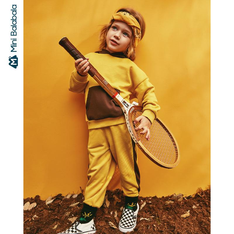 【1件6折】迷你巴拉巴拉儿童套装男童长袖套装2019年秋季新款男宝宝两件套