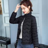 短款女2019韩版修身小棉袄轻薄款女装棉衣冬装外套 L 100斤以下