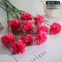 康乃馨仿真花束假花绢花干花艺客厅摆设餐桌摆件装饰花塑料教师节