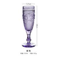 欧式复古无铅彩色浮雕玻璃杯红酒杯葡萄酒杯香槟杯子高脚杯