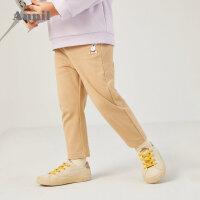 【活动价:108】安奈儿童装男小童全腰针织单裤2020春装新款小孩休闲长裤子潮TG016056