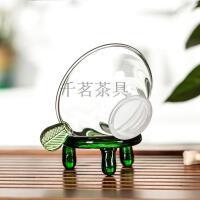 言标 耐热玻璃茶壶茶漏透明玻璃功夫茶具茶道配件隔滤茶器 过滤网