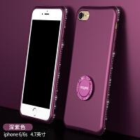 iphone6手机壳苹果6plus防摔6s软硅胶潮女款六水钻潮6splus支架i6