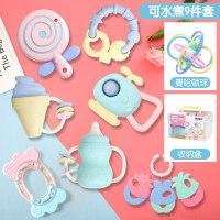 手摇铃婴儿玩具0-1岁新生儿幼3-6-12个月男宝宝女孩牙胶摇铃 |曼哈顿球