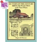 【中商海外直订】100 Turn-Of-The-Century Brick Bungalows with Floor