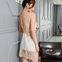 性感睡衣冰丝睡裙情趣内衣女诱惑套装家居服美背塑身吊带深v家居服蕾丝短裙