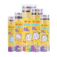 学生六角杆彩铅3101绘画笔 彩色铅笔 填色笔 涂色笔 12/18/24/36/48/60色 桶装