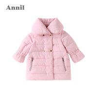 【3件3折�A估券后�r:148元】安奈�和��b女童棉衣中�L款20新款加�q加厚保暖����外套�胗�荷弦�