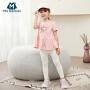 【2件4折】迷你巴拉巴拉女童套装2020夏季新品短袖套装裙裤简约淑女童装