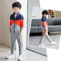 童装男童套装2018秋装新款休闲男孩中大童时尚儿童韩版运动两件套