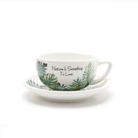 花式咖啡大口杯拿铁杯泽田杯 杯+碟