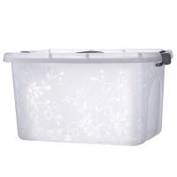 塑料透明收纳箱大小号零食储物箱玩具整理箱桌面化妆品收纳盒箱子