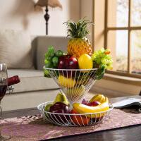干果盘家用两层多层水果篮客厅创意时尚水果盘现代