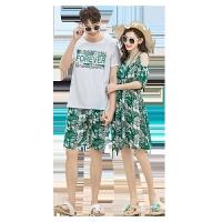 欧美女装潮牌泰国海边蜜月度假沙滩裙波西米亚长裙情侣装夏装显瘦连衣裙女裙子 绿色