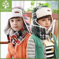 韩国婴儿潮男女儿童套头加绒围脖宝宝围巾秋冬款保暖英伦