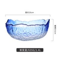 新款耐热玻璃碗日式餐具家用沙拉碗水果碗甜品透明碗小碗具