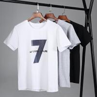 3件装】冰瓷棉男士圆领运动t恤潮男装韩版半袖大码青少年学生宽松纯棉短袖T178