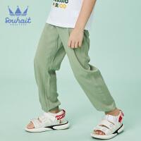 souhait水孩儿童装新款儿童梭织长裤夏季防蚊裤男女同款薄长裤SHNXND15CK694