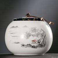 陶瓷茶�~罐大�半斤�b存��罐密封罐�F�^音普洱茶罐�ξ锕�