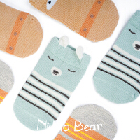 2018新款 秋冬婴儿袜子初生宝宝棉袜可爱松口袜
