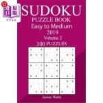 【中商海外直订】300 Easy to Medium Sudoku Puzzle Book 2019