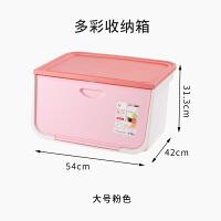 日本爱丽思前开式收纳箱塑料玩具整理箱爱丽丝家用衣服储物箱