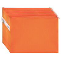 广博(GuangBo)10只装A4布质防水拉链文件袋/彩色资料袋 颜色随机A6093当当自营