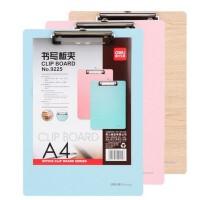 得力9225木质板夹 彩色木板夹 A4文件板夹 书写夹板 办公用品