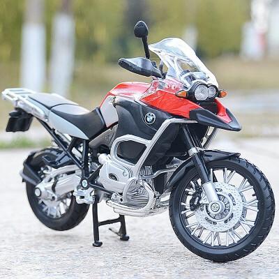 美驰图1:12合金摩托车模型川崎杜卡迪雅马哈本田宝马仿真机车摆件  送展示台