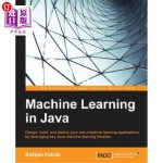 【中商海外直订】Machine Learning in Java