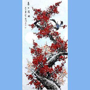 中国美术家协会会员,龙云书画院院长候桂峰(喜上眉梢)2